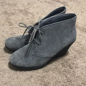 Shoes - Gray suede wedges